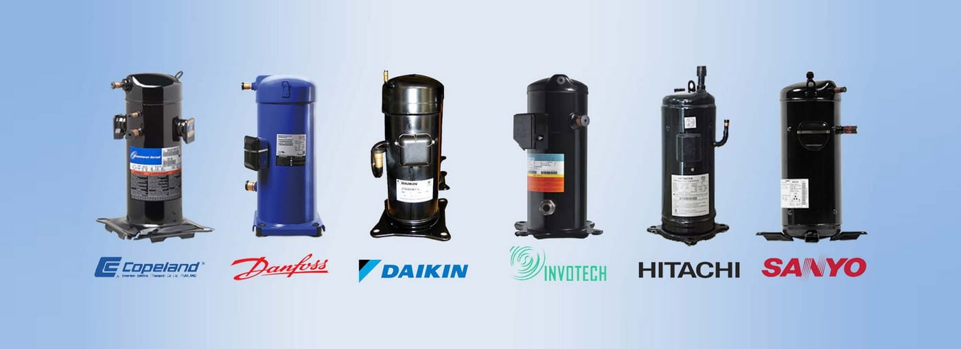 Danfoss-InvoTech-Copeland-Panasonic-SANYO-Daikin-Hitachi-Scroll-کمپرسور